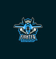 emblem a military aircraft aircraft logo vector image vector image