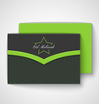 Envelope with islamic pattern vector image vector image