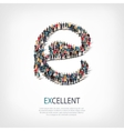 excellent people sign 3d vector image