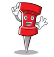 finger red pin character cartoon vector image vector image