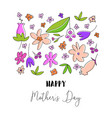 floral happy mothers day vector image vector image