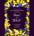 flowers engagement party invitation card vector image vector image