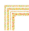 four corners made from cute autumn leaves isolated vector image vector image