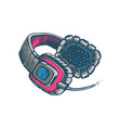 full size headphones vector image vector image