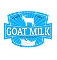 goat milk label or sticker vector image