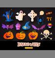 Halloween cartoon elements set stickers