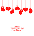heart hanging vector image