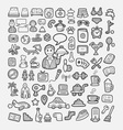 Hotel icons hand drawing sketch style vector image