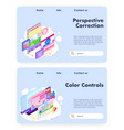house architect design and colors control vector image vector image