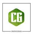 initial letter cg logo template design vector image vector image