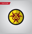 isolated biohazard flat icon danger vector image vector image
