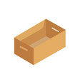 isometric cardboard box packaging isolated vector image vector image