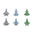 jet fighter aircraft warfare set collection with vector image vector image