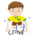 Little boy crawling on the floor vector image vector image