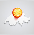 logo of swiss cheese vector image vector image
