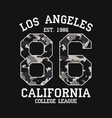 los angeles graphic design for t-shirt vector image vector image