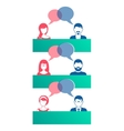 Man and woman dialog icons vector image vector image