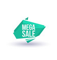 mega sale isolated trendy geometric label vector image vector image
