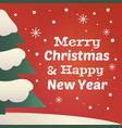 merry christmas and happy new year vintage card vector image vector image