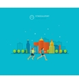 Modern flat icons of healthy lifestyle vector image vector image