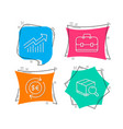 money currency portfolio and demand curve icons vector image