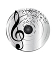 Music platinum record vector image vector image