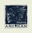 native american vintage typography vector image vector image