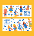 new dolls collection set banners vector image