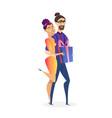 online shopping website design element template vector image vector image