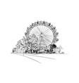 prater park ferris wheel vienna austria vector image vector image
