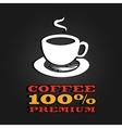 premium coffee cup label concept menu poster vector image vector image