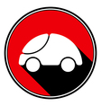 red information icon - white cute rounded car vector image vector image
