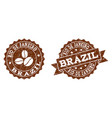 rio de janeiro stamp seals with grunge texture in vector image vector image