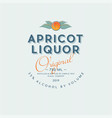ripe apricot liquor label packaging design vector image vector image