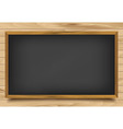 School nero Board on wooden background vector image