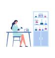 science laboratory professional scientific vector image