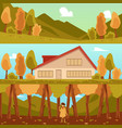 set autumn nature banners or posters design vector image vector image