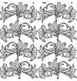 simple floral pattern black and white pattern vector image vector image