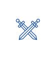 swords line icon concept swords flat vector image