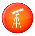 Telescope icon flat style vector image vector image