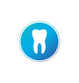 tooth circle icon flat design style tooth simple vector image