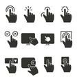 touch icon black for graphic vector image