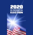 vertical banner for 2020 us presidential election vector image