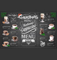 Vintage chalk drawing christmas menu design