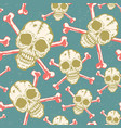 vintage pattern with skulls vector image
