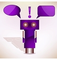 Violet Robot with Message Bubbles vector image