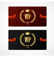 VIP Card Set vector image vector image