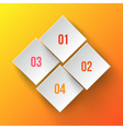 White applique numbers on orange background vector image