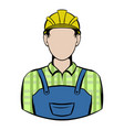 worker icon cartoon vector image vector image