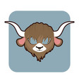 yak mask for various festivities parties vector image vector image